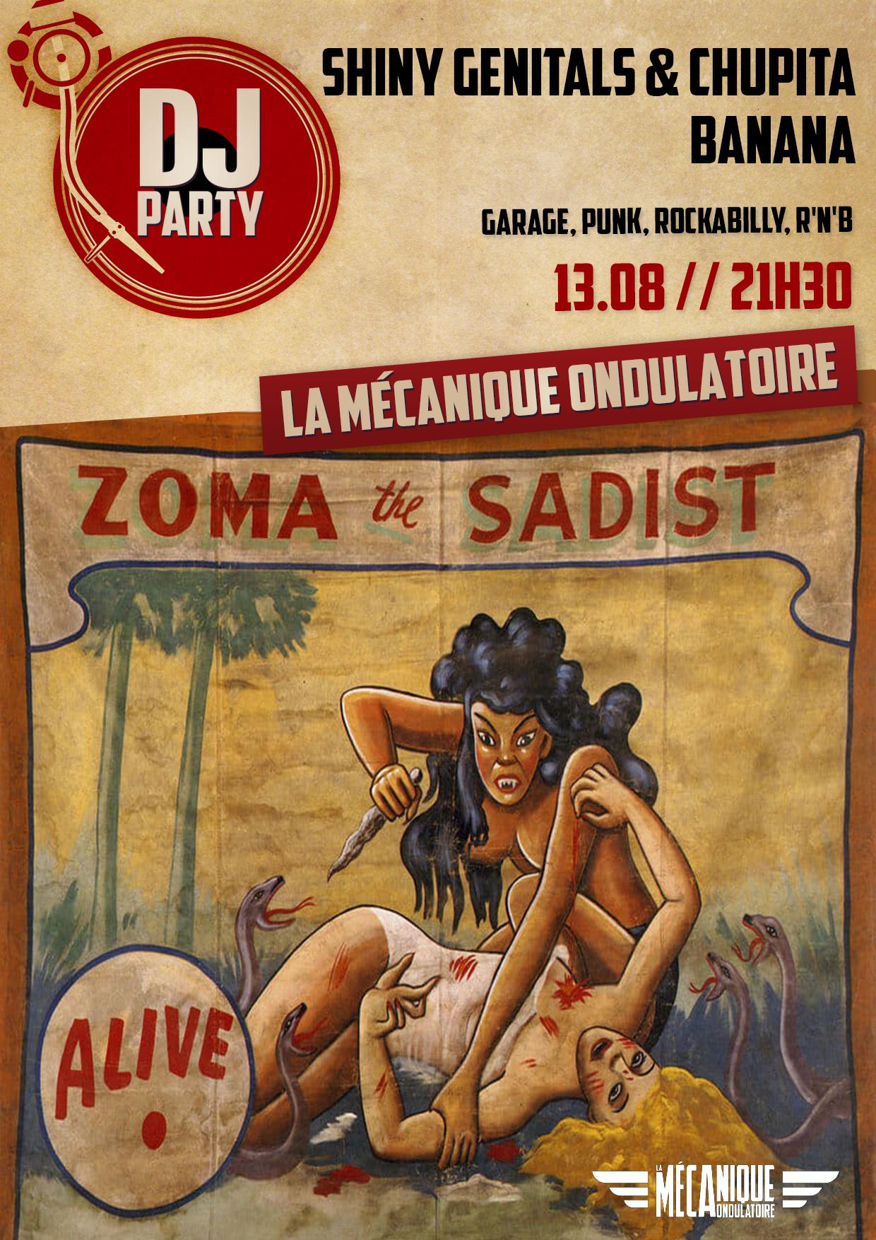 Shiny Genitals & Chupita Banana DJ Set - 13.08 - La Méca