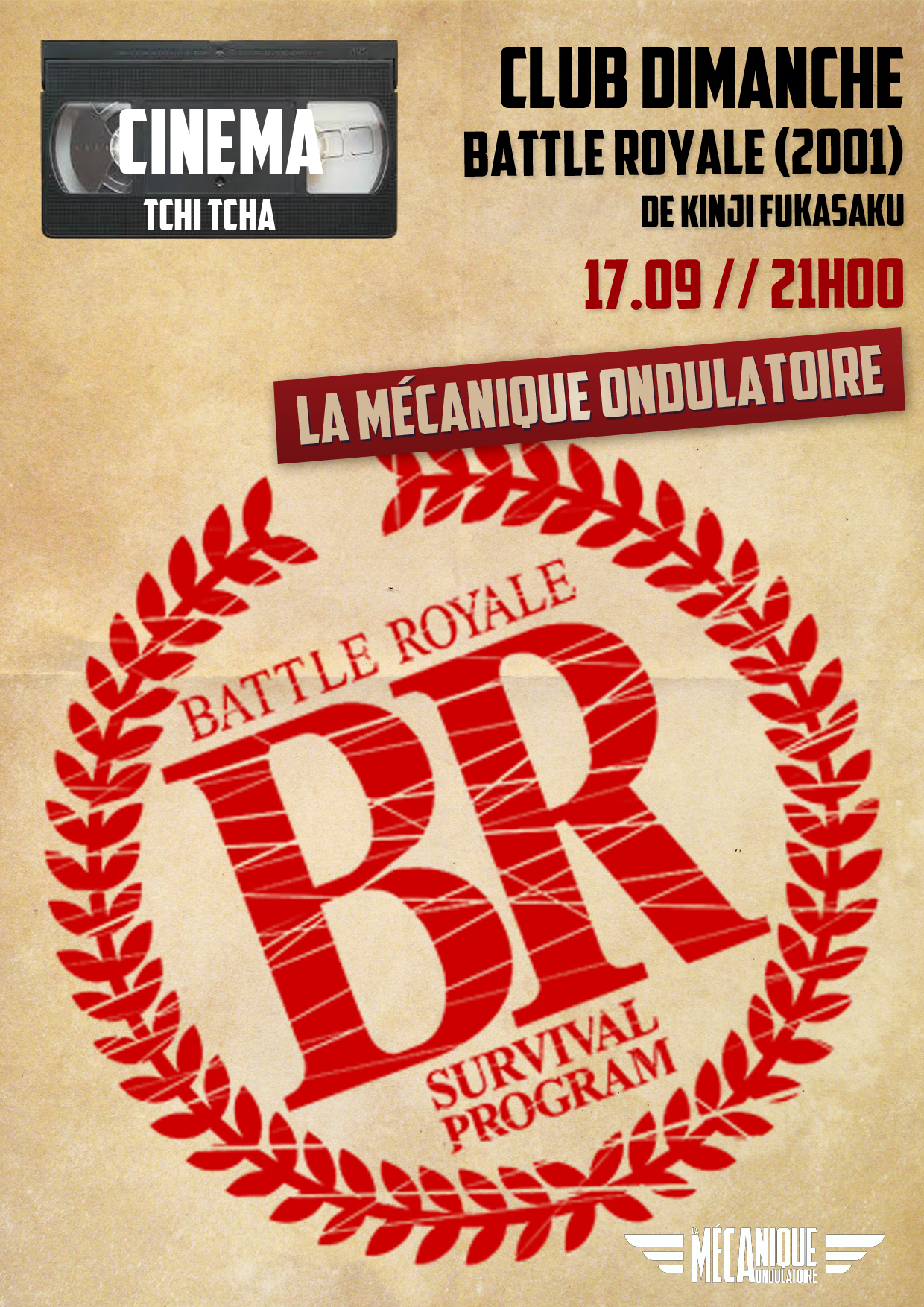 CLUB DIMANCHE x BATTLE ROYALE // 17.09
