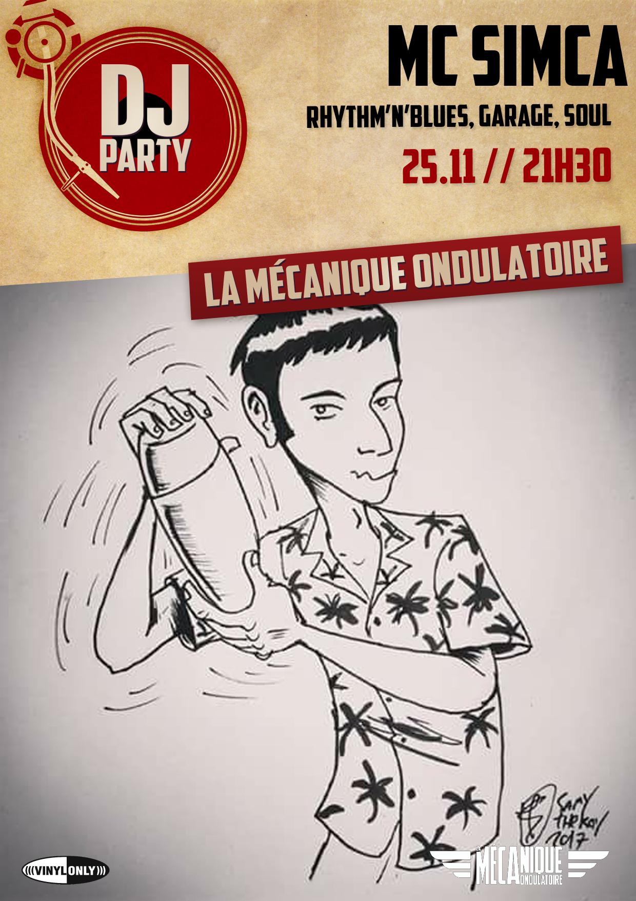 MC SIMCA DJ PARTY // 25.11