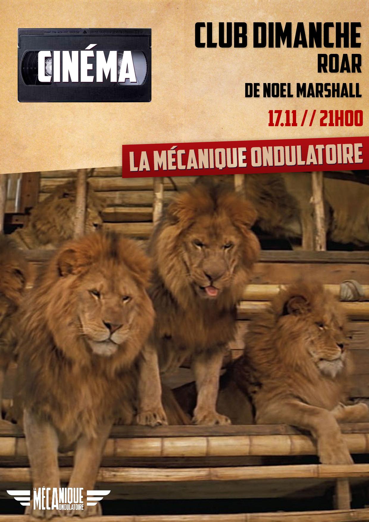 Roar // Club Dimanche // 17.11