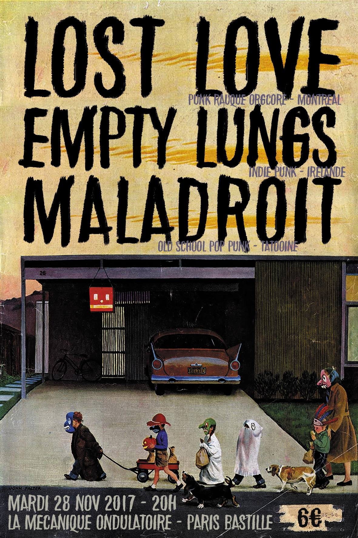 LOST LOVE + EMPTY LUNGS + MALADROIT // 28.11
