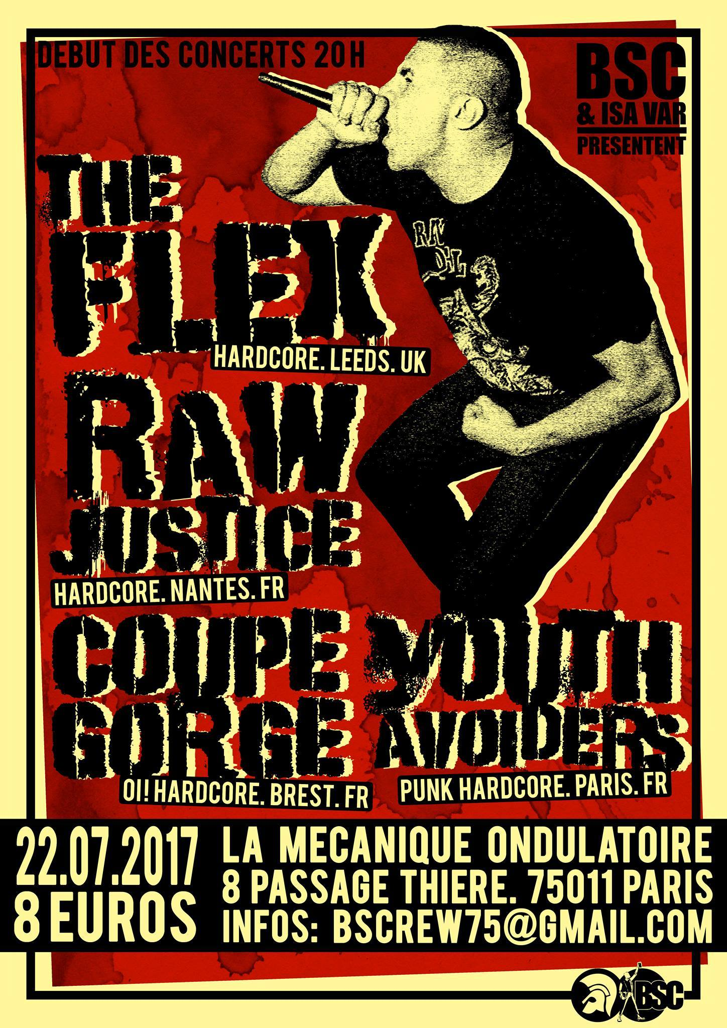 The Flex + Raw Justice + Coupe Gorge + Youth Avoider // 22.07