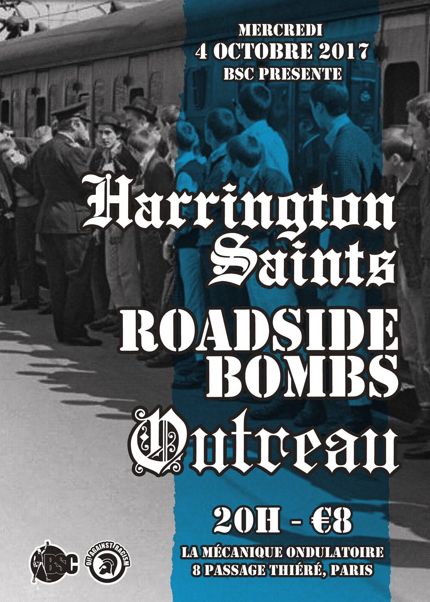 HARRINGTON SAINTS + ROADSIDE BOMBS + OUTREAU // 04.10