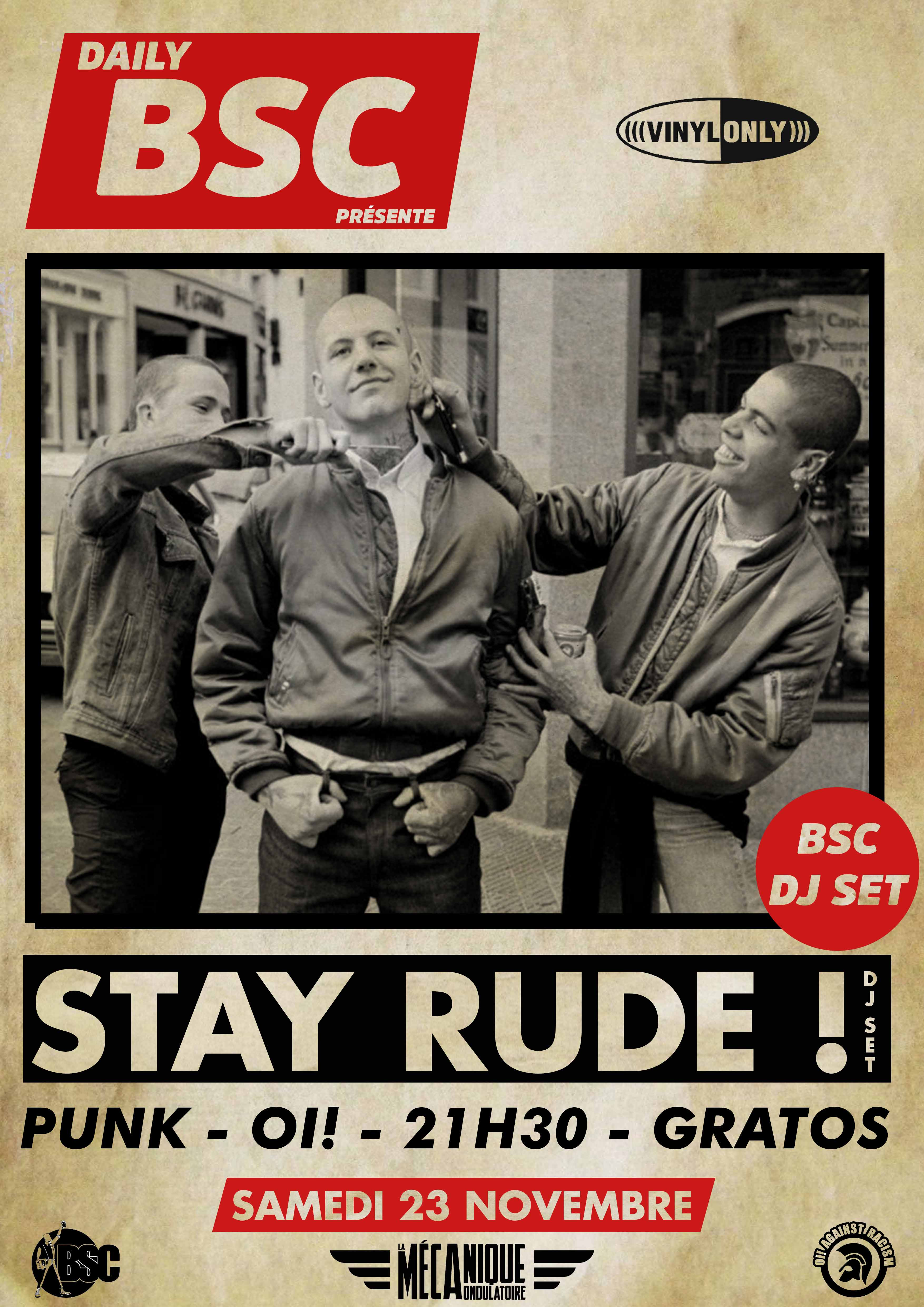 STAY RUDE // 23.11