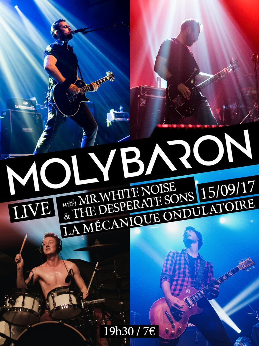 Mr. White Noise + The Desperate Sons + Molybaron // 15.09