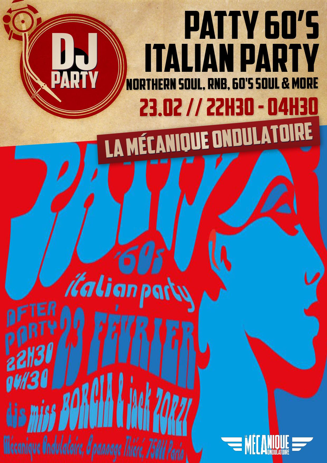 PATTY 60'S ITALIAN PARTY // 23.02