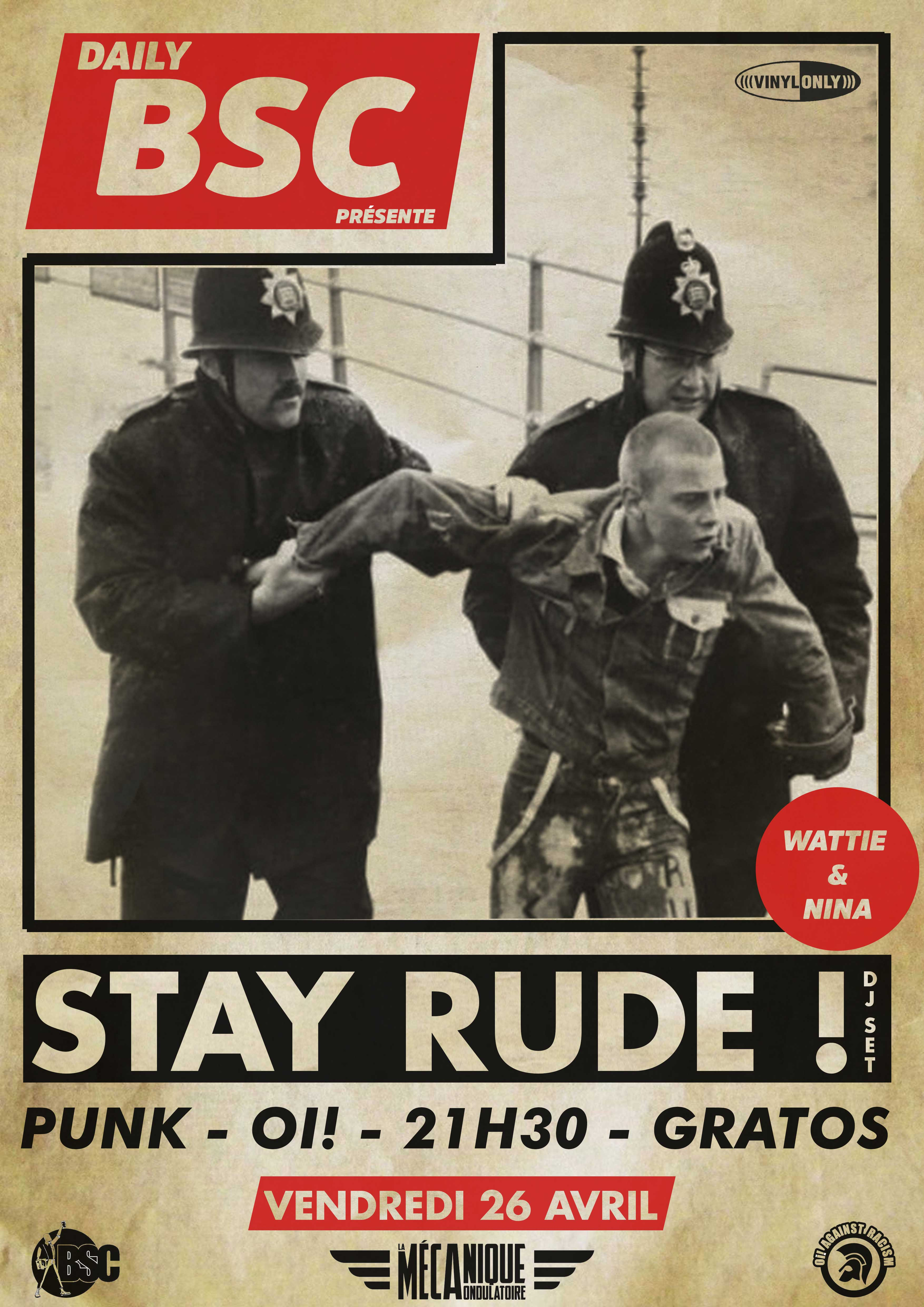 STAY RUDE! // 26.04