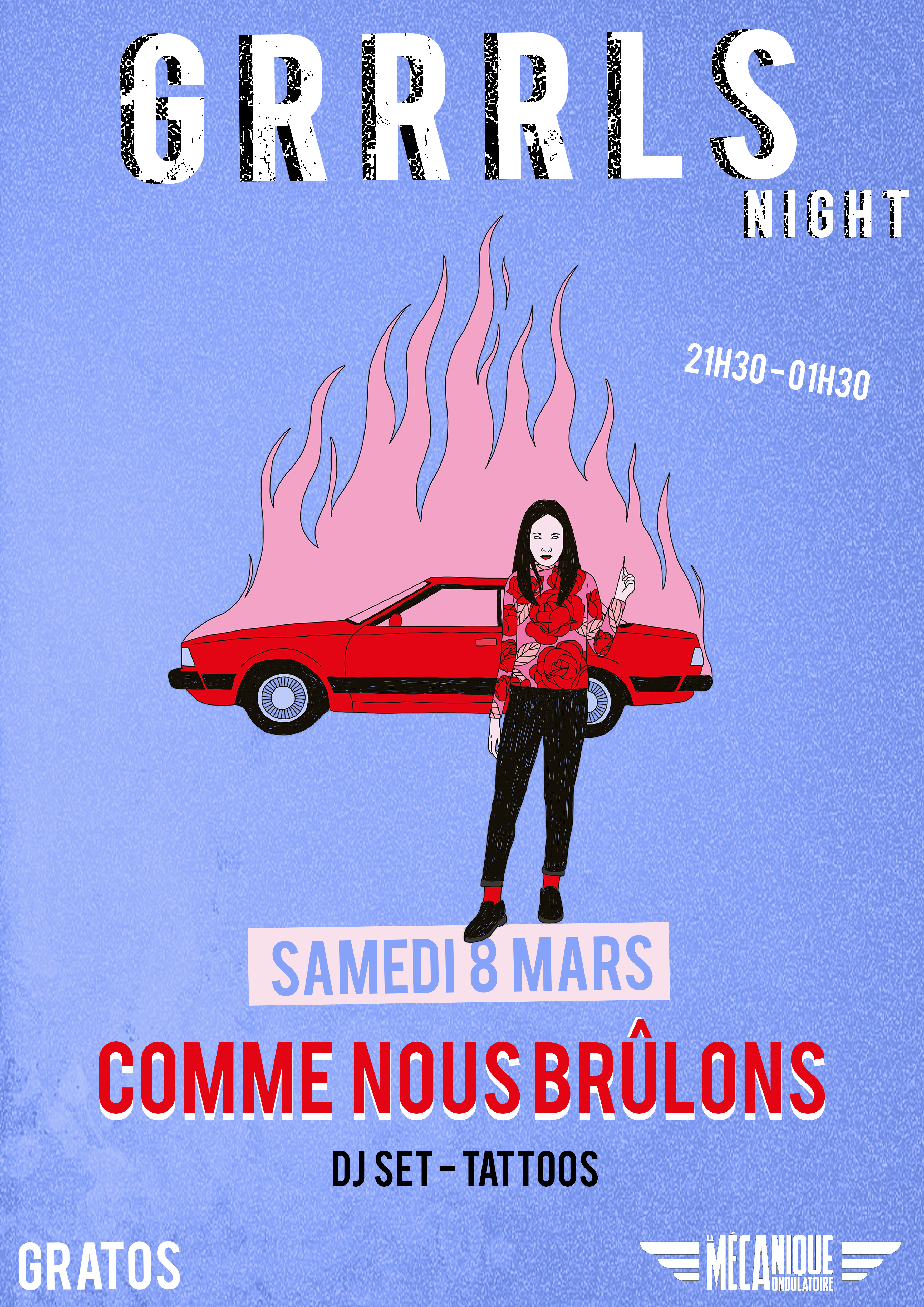Grrrls Night #1 : Comme Nous Brûlons DJ SET // 08.03